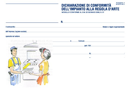 Dichiarazioni di conformità e dichiarazioni di rispondenza